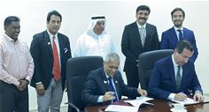 Signing ceremony between TrueProfile.io and RAKMHSU